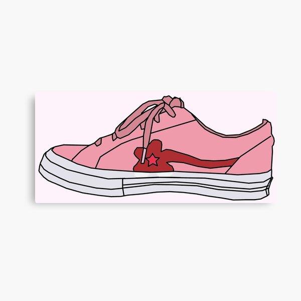 Tyler The Creater Golf Le Fleur Pink Sneaker Drawing Cartoon Flower Boy Canvas Print