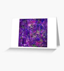Busy Purple Greeting Card