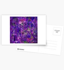 Busy Purple Postcards