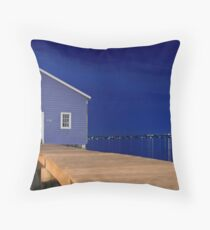 Crawley Edge Boatshed Panorama  Throw Pillow