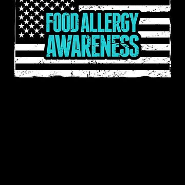 USA - Teal Ribbon Food Allergy Awareness by EMDdesign