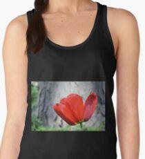 Two-Tone Red Tulip Women's Tank Top