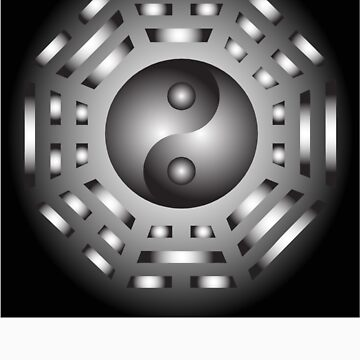 Yin and Yang and bagua by 4Seasons