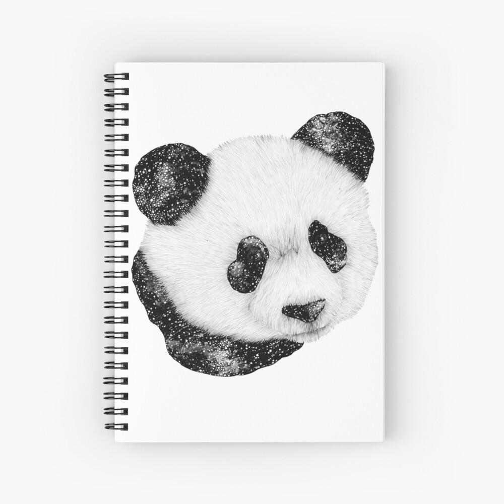 Panda cósmico Cuaderno de espiral