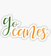 go canes university of miami Sticker