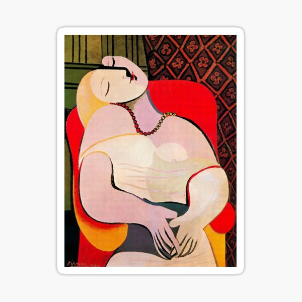 Pablo Picasso A Dream 1932 (Le Reve) Artwork T Shirt Sticker