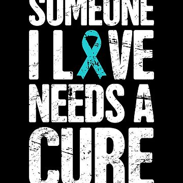 Cure - Teal Ribbon Food Allergy Awareness by EMDdesign