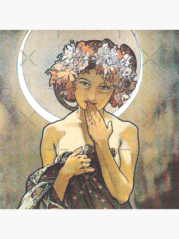 HD. Der Mond und die Sterne, (Nummer 1 aus der Serie 4) von Alphonse Mucha (1902) HIGH DEFINITION von mindthecherry