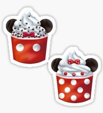 Mickey and Minnie Sundae Sticker