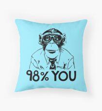Monkey Chimp Homo Sapiens DNA 98% Throw Pillow