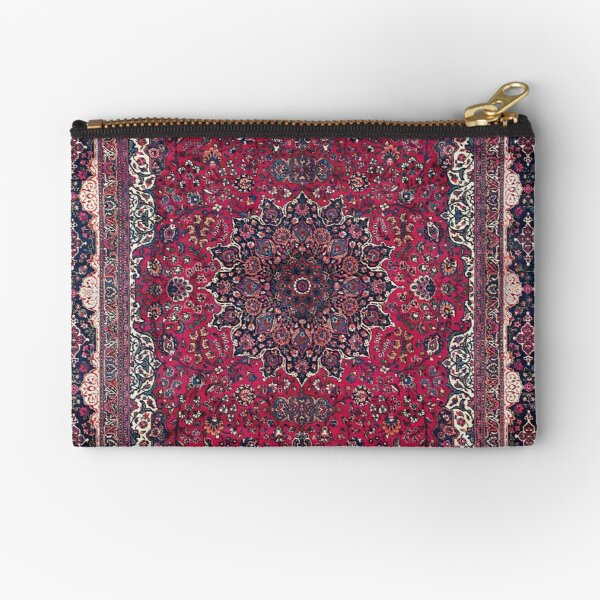 Saber Meshed Persian Carpet Print Zipper Pouch