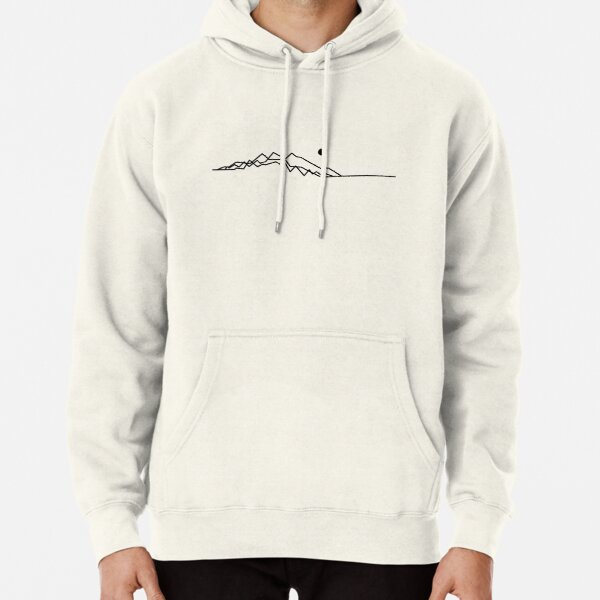 Minimalist Mountains At Sunset Pullover Hoodie
