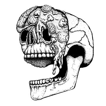 Pizza Face | Skull Tattoo by Gringoface