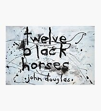 Twelve Black Horses Photographic Print