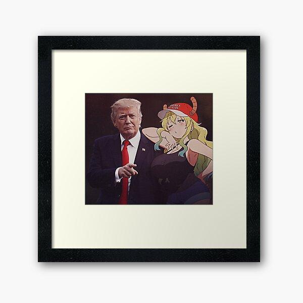 Lucoa Quetzalcoatl feat. Donald Trump Framed Art Print