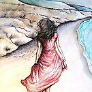 Girl on a Beach by lynzart