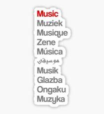 Music (10 languages) Sticker