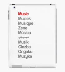 Music (10 languages) iPad Case/Skin