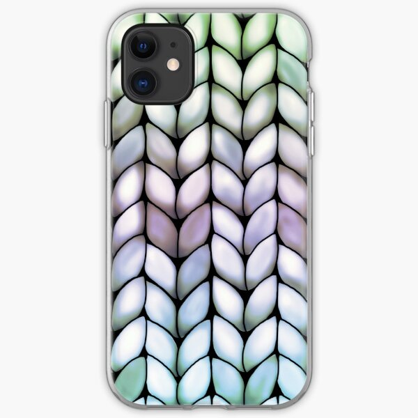 Chunky Lavender Forest Knit iPhone Flexible Hülle