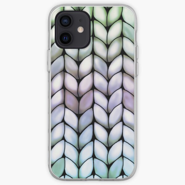 Chunky Lavender Forest Knit iPhone Soft Case