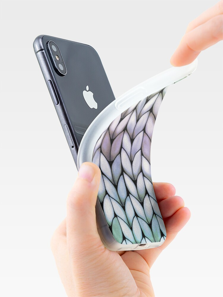 Alternate view of Chunky Lavender Forest Knit iPhone Case & Cover