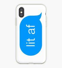 lit af — Chat Bubble iPhone Case