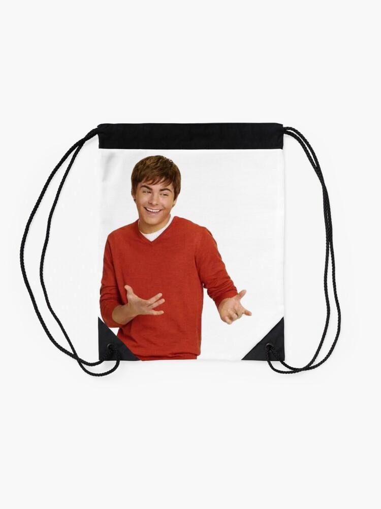 Alternate view of zac efron - troy bolton shrug meme - 3 Drawstring Bag