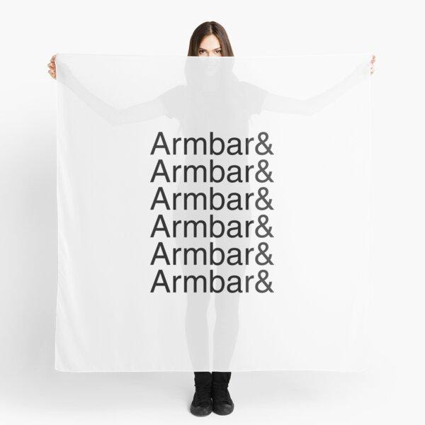 Armbar and armbar and armbar and armbar (black text) Scarf