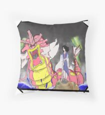 The dragon and the girl Throw Pillow