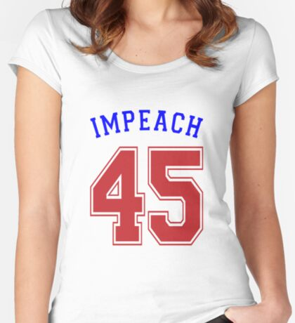 Impeach 45 Women's Fitted Scoop T-Shirt