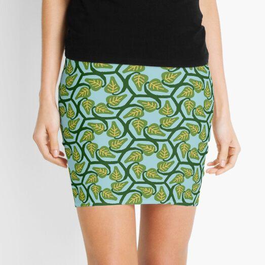 Hexagonal vines Mini Skirt