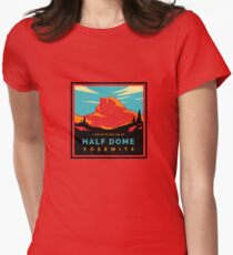 HalfDomeRed2 Women's Fitted T-Shirt