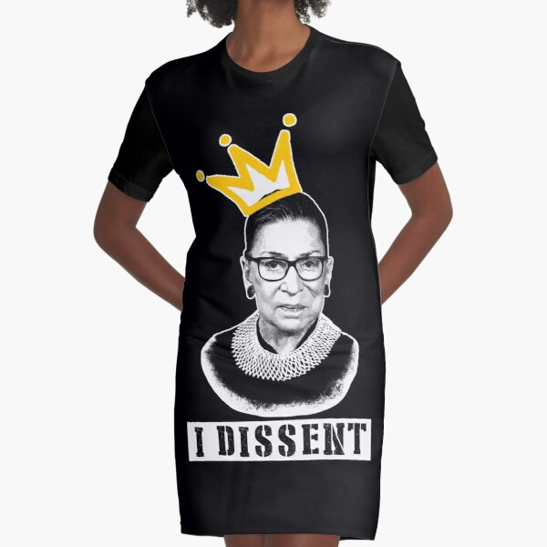 The Notorious RGB tshirt Ruth Bader Ginsburg t shirt I dissent t shirt Graphic T-Shirt Dress