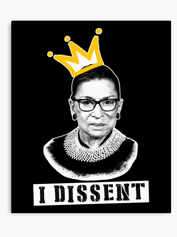 64c625e8b6ea The Notorious RGB tshirt Ruth Bader Ginsburg t shirt I dissent t shirt  Canvas Print