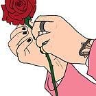 Harry Styles Rose by meanicolexx