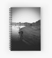 Boy at the Lake Spiral Notebook