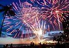 Spectacular Fireworks in Waikiki 4 by Alex Preiss