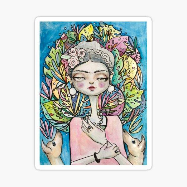 Fridas colorful life  Sticker