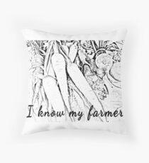I know my farmer Throw Pillow