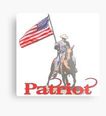 Mounted Patriot  Metal Print