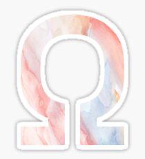 Omega - Greek Letter Sorority Sticker Sticker