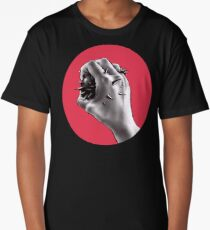 Painful Experiment With Stabbed Hand   Digital Art Long T-Shirt