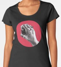 Painful Experiment With Stabbed Hand   Digital Art Women's Premium T-Shirt