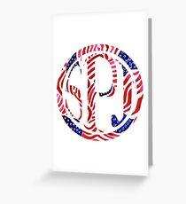SJP Monogram USA Flag Lilly Pulitzer Print Greeting Card