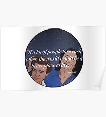 The Room Inspirational Quote From Johnny To Denny Sticker T-Shirt Cartoon Funny Poster