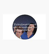 The Room Inspirational Quote From Johnny To Denny Sticker T-Shirt Cartoon Funny Photographic Print