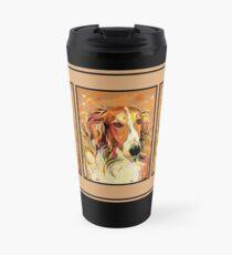 Borzoi Boris Pop Art - Tan Travel Mug