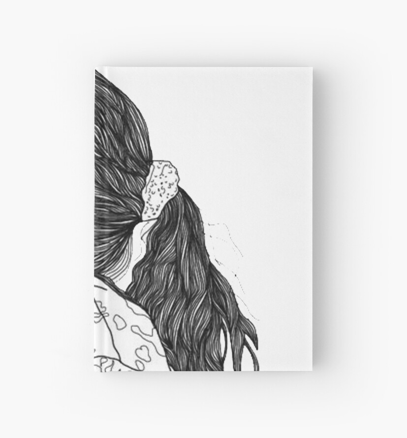 Aesthetic Girl Hardcover Journals By Ariahgraphics Redbubble