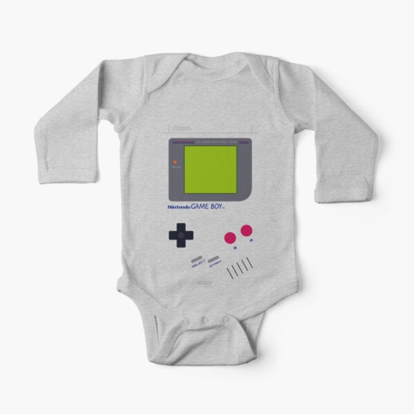 Game Boy Long Sleeve Baby One-Piece