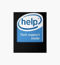 Funny Intel Parody Logo Computer Tech Support Art Board